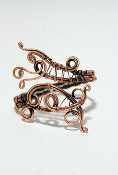 Heart bracelet copper bracelet wire wrapped by MargosHandmade Coral Bracelet, Copper Bracelet, Heart Bracelet, Copper Jewelry, Wire Jewelry, Boho Jewelry, Metal Jewellery, Bangle Bracelet, Handmade Jewelry Bracelets