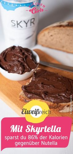Recipe for Skyrtella: this saves you of the calories compared to Nutella Es . - Recipe for Skyrtella: this saves you of the calories compared to Nutella eating and drinking - Protein Desserts, Healthy Protein Snacks, Healthy Dessert Recipes, Health Desserts, Low Carb Recipes, Snack Recipes, Keto Snacks, Best Protein Shakes, Protein Shake Recipes