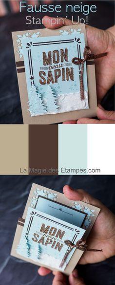 Carte à pliage original et fausse neige avec pâte à texturer Stampin' Up!