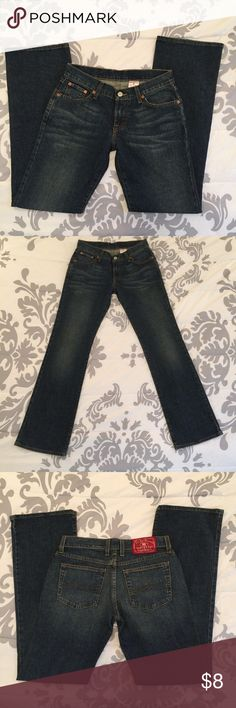 """Lucky Brand Jeans Gently used, no flaws. Measurements are: Waist: 30"""" Inner Seam: 31.5"""" Outer Seam: 39.5"""" Hips: 38"""" All measurements are taken with the article of clothing lying flat and relaxed. Lucky Brand Jeans"""