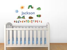 Personalized wall decals from www.oliverslabels.com