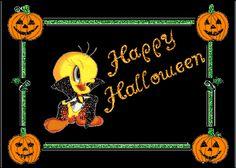 happy halloween photo: Tweety Bird Happy Halloween - glitter halloween-55.gif