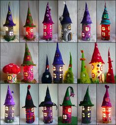 Tischlampen - Filzlampe, Lampe gefilzt, Märchenlampe, - ein Designerstück von felted-art-to-wear bei DaWanda