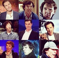 The many faces of Benedict Cumberbatch ❤️