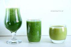 3 najlepsze przepisy na zielone koktajle – idealne na Wiosenne oczyszczenie! Good Food, Yummy Food, White Wine, Cucumber, Wine Glass, Smoothies, Alcoholic Drinks, Cooking Recipes, Tasty