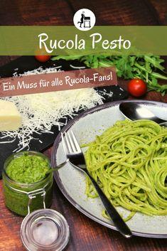 Hier kommt ein Rucola Pesto Rezept zum selber machen. Mit Pinienkernen