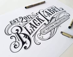 """3,469 Likes, 15 Comments - Mateusz Witczak Designs (@mateuszwitczakdesigns) on Instagram: """"The next one design for Black Label Tattoo #typography #calligraphy #lettering #handlettering…"""""""