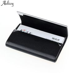 Aelicy Big Capacity Business Name Card Holder Credit Card Holder Fashion Unisex PU Leather Solid Visit Card Case Metal Wallet. Yesterday's price: US $2.79 (2.30 EUR). Today's price: US $2.79 (2.30 EUR). Discount: 34%.