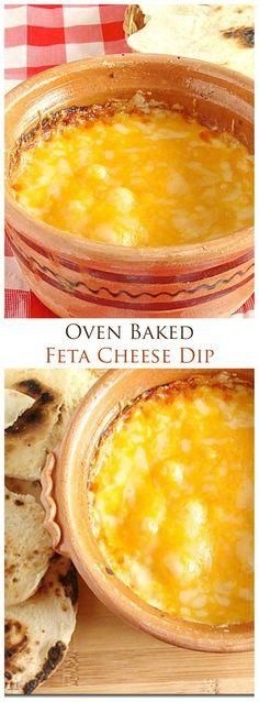 {Macedonia} Warm Feta Cheese Dip | www.diethood.com | The best cheese dip, ever!