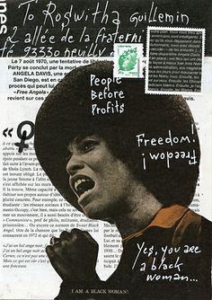 © Christine LE ROY http://www.christine-le-roy.com #angeladavis #freedom #mailart