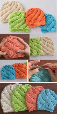 Crochet Spiral Beanies