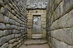 Inca doorway at Machu Picchu