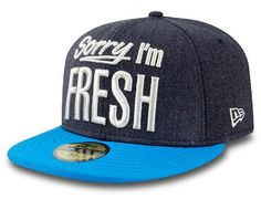 Denim Teal Sorry I'm Fresh 59Fifty Fitted Cap by NEW ERA