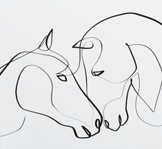 Horse Line Art One Line Horse Print Single Line One Line This elegant horse wall art would make the perfect gift for any horse lover! Printed on beautiful, solar white paper with a trim size at 8 Horse Drawings, 3d Drawings, Cartoon Drawings, Animal Drawings, Drawing Animals, Art Minimaliste, Horse Illustration, Single Line Drawing, Simple Wall Art