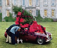 The Terrier and Lobster: CH Carolina Herrera Ads by Tim Walker Christmas In Europe, Christmas Car, Christmas Is Coming, Little Christmas, All Things Christmas, Christmas Holidays, Christmas Decorations, Merry Christmas, Christmas Trees