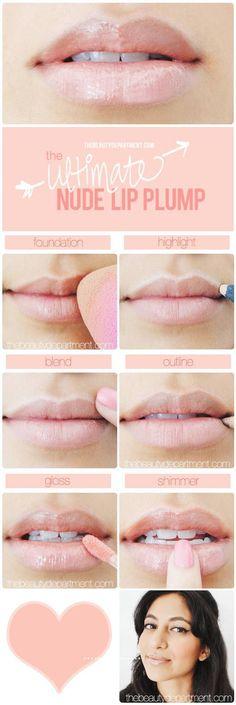 Plump Nude Lip Makeup Tutorial
