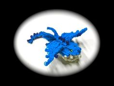 Rainbow Loom Dragon:THUNDERDRUM. Designed and loomed by Cortney Nicole. Click photo for YouTube tutorial. 03/04/14.