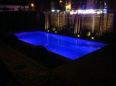 Pool mit Salzelektrolyse  Salzwasser Pool