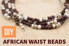 How to Make African Waist Beads DIY Tutorial - The Bead Chest Jewelry Making Beads, Jewelry Shop, Beaded Jewelry, Fine Jewelry, Jewelry Ideas, Jewellery Box, Fashion Jewelry, Craft Jewelry, Jewellery Storage
