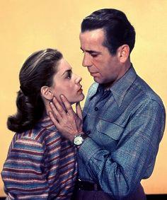Lauren Bacall, Humphrey Bogart; publicity still for John Huston's Key Largo (1948)