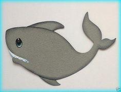 PREMADE SHARK ANIMAL SEA MARINE PAL PAPER PIECING BY MY TEAR BEARS KIRA