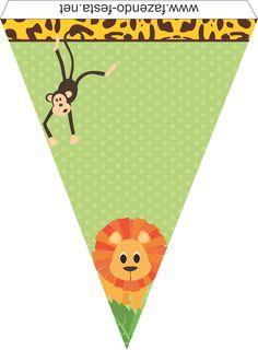 kit festa safari bandeirolas …