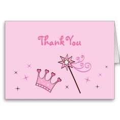 Shop Princess Crown Tiara Thank You Note Cards created by little_prints. Thank You Note Cards, Custom Thank You Cards, Baby Shower Supplies, Baby Shower Themes, Princess Theme, Little Princess, Fairy Birthday, Birthday Ideas, Invitation Cards