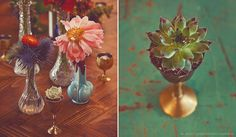 More from Casa de Perrin. Perfect for an intimate, eclectic wedding tabletop.