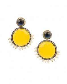 ASTRAL: Yellow Stone Earrings - $69