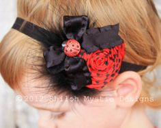 Pair of 2 Lavender and Purple Ladybug Hair Clips by cutiepatoody