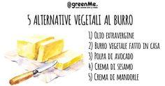 Burro: 5 alternative vegetali al di là della margarina Burritos, Tahini, Cantaloupe, Pineapple, Avocado, Healthy Recipes, Healthy Food, Food And Drink, Low Carb