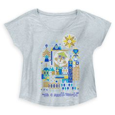 [Golden girl]Enjoy a world of laughter as you bring a smile to everyone& day with this & a small world& tee for women. The golden artwork is inspired by Mary Blair& iconic design for the popular Fantasyland attraction. Disney Shirts, Disney Outfits, Outfits For Teens, Disney Clothes, Disneyland Outfits, Disney Fashion, Pretty Outfits, Cool Outfits, Casual Outfits