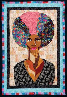 Angela Davis handmade quilt via Ramsess Fine Arts