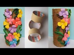 How to Make Best out of waste Flower vase !!! Jute/Twine  Flower Vase !!!! Unique - YouTube