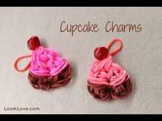 awesome Rainbow Loom Cupcake Charm