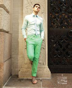 "Jack Vanderhart in ""Color Guard"" shoot in New York by Rodrigo Ruiz"