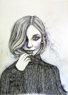 Female, Art, Ink, Watercolor Painting, Drawings, Art Background, Kunst, Performing Arts, Art Education Resources