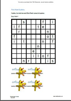 Print out four 6x6 Christmas sudoku starring Santa's reindeer and a whole lot of other free ...