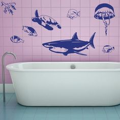 Style and Apply Sea Animal Set Wall Decal