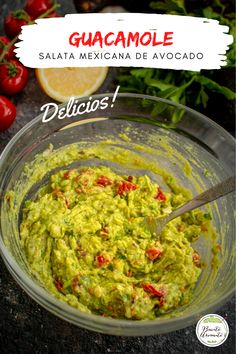 Guacamole, Avocado, Cooking Recipes, Healthy Recipes, Tzatziki, Summer Recipes, Appetizers, Food And Drink, Drinks