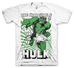 Marvel Comics Hulk Smash White T-shirt Official Licensed Movie