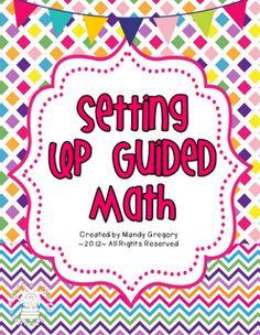 Setting Up Guided Math- FREEBIE as seen on Third Grade Troop  www.thirdgradetroop.com