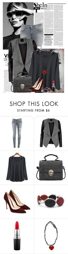 """""""Win T- shirt from Sheinside !!!"""" by laurafox27 ❤ liked on Polyvore featuring Nicki Minaj, Dondup, Chico's and MAC Cosmetics"""