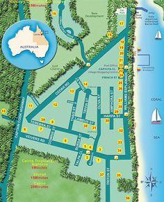 Palm Cove Map http://www.executiveretreats.com.au/