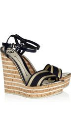 GUCCI  Leather and cork wedge sandals  $675  CUTE!