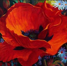 Art Floral, Floral Watercolor, Flower Images, Flower Art, Yellow Painting, Belle Photo, Painting Inspiration, Poppies, Canvas Art
