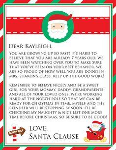 Personalized Printable Letter From Santa! #glamdesignstudio
