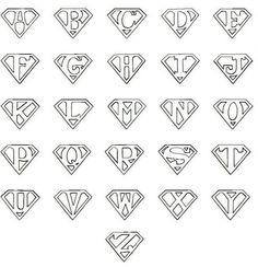 Printable Superman Logo Letter:                              …