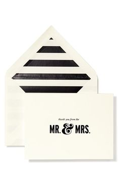 kate spade - thank you from the mr. and mrs. cards http://rstyle.me/n/vc7cznyg6