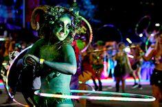 Caitlyn Woods Spins Sydney Mardi Gras Parade | hooping.org